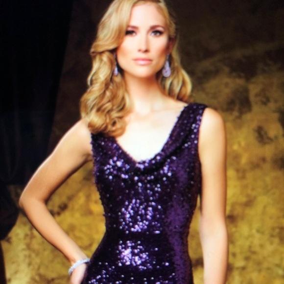 503bc6807c7 Celebrity David Tutera DT11611 Cowl Neckline Dress